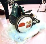 車椅子には『笑点』の文字が=桂歌丸さん告別式 (C)ORICON NewS inc.