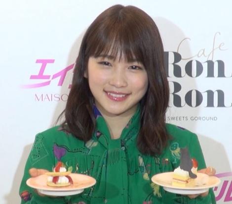 回転スイーツカフェ『MAISON ABLE Cafe Ron Ron』のオープニングイベントに出席した川栄李奈 (C)ORICON NewS inc.