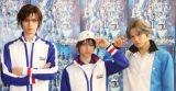 ミュージカル『「テニスの王子様」3rdシーズン 全国大会 青学VS氷帝』囲み取材に出席した(左から)青木瞭、阿久津仁愛、三浦宏規 (C)ORICON NewS inc.