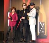 『Y by Yoshiki』プレミアム新作ワイン発表会に出席した(左から)樹林ゆう子氏、YOSHIKI、樹林伸氏 (C)ORICON NewS inc.