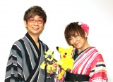 『劇場版ポケットモンスター みんなの物語』に出演した(左から)山寺宏一、松本梨香 (C)ORICON NewS inc.