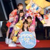 東京スカイツリーでコラボイベント『ソラクロ祭 ももクロ in トーキョースカイツリー』取材会に出席したももいろクローバーZ (C)ORICON NewS inc.