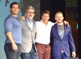 豪華出演陣も来日(左から)ヘンリー・カヴィル、クリストファー・マッカリー監督、トム・クルーズ、サイモン・ペッグ (C)ORICON NewS inc.