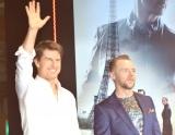 映画『ミッション:インポッシブル/フォールアウト』記者会見に出席した(左から)トム・クルーズ、サイモン・ペッグ (C)ORICON NewS inc.