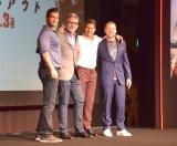 映画『ミッション:インポッシブル/フォールアウト』記者会見に出席した(左から)ヘンリー・カヴィル、クリストファー・マッカリー監督、トム・クルーズ、サイモン・ペッグ (C)ORICON NewS inc.