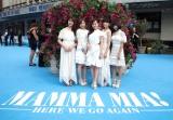 イギリス・ロンドンで開催された『マンマ・ミーア! ヒア・ウィー・ゴー』のワールドプレミアに参加