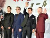 映画『ミッション:インポッシブル/フォールアウト』(8月3日公開)のジャパンプレミアに出席した(左から)ヘンリー・カヴィル、マッカリー監督、トム・クルーズ、サイモン・ペッグ (C)ORICON NewS inc.