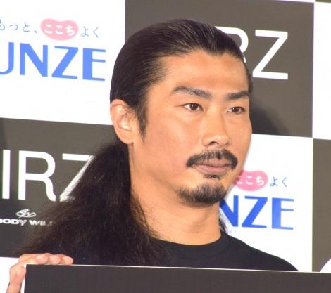 グンゼ次世代アンダーウェア『AIRZ』発売記念イベントに出席したパンサー・菅良太郎 (C)ORICON NewS inc.