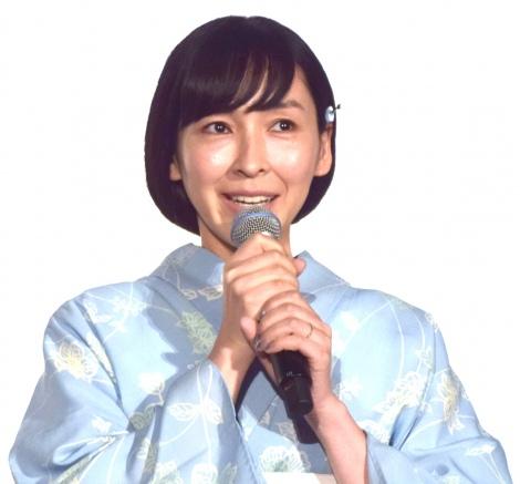 アニメーション映画『未来のミライ』初日舞台あいさつに出席した麻生久美子 (C)ORICON NewS inc.