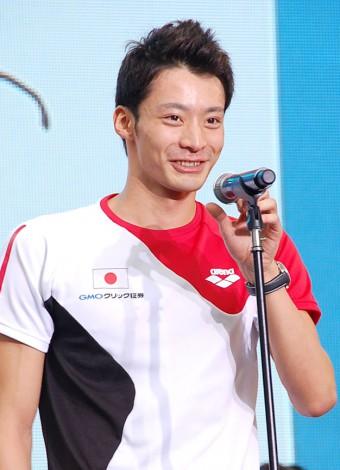 『パンパシ水泳 ゴールドコースト2014』壮行会に出席した入江陵介選手 (C)ORICON NewS inc.