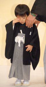 『吉例顔見世大歌舞伎 十一世市川團十郎五十年祭』製作発表記者会見に出席した堀越勧玄くん (C)ORICON NewS inc.