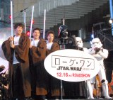 映画『ローグ・ワン/スター・ウォーズ・ストーリー』のイベントに出席した(左から)坂井聖人選手、瀬戸大也選手、水谷隼選手 (C)ORICON NewS inc.