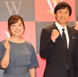 (左から)水卜麻美アナ、徳井義実 (C)ORICON NewS inc.