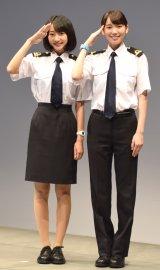 ドラマ『マジで航海してます。〜Second Season〜』の制作発表会に出席した(左から)武田玲奈、飯豊まりえ (C)ORICON NewS inc.
