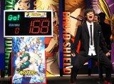 叫ぶ山下大輝=映画『僕のヒーローアカデミア THE MOVIE 〜2人の英雄〜』完成披露試写会 (C)ORICON NewS inc.
