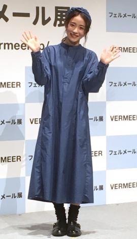 絵画展『フェルメール展』の会見に登壇した石原さとみ(C)ORICON NewS inc.