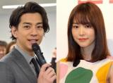 結婚した(左から)三浦翔平、桐谷美玲 (C)ORICON NewS inc.