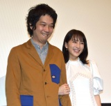 (左から)原桂之介監督、知英=映画「私の人生なのに」公開記念舞台あいさつ (C)ORICON NewS inc.
