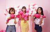 ピンクのキャンディがいっぱいのブース (C)oricon ME inc.