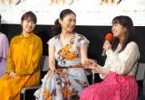 ドラマ『夕凪の街 桜の国』の試写会に出席した(左から)川栄李奈、常盤貴子、平祐奈 (C)ORICON NewS inc.