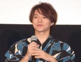 映画『青夏 きみに恋した30日』の前日祭舞台あいさつに出席した志村玲於 (C)ORICON NewS inc.
