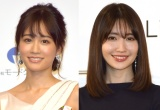 前田敦子(左)の結婚を祝福した小嶋陽菜(C)ORICON NewS inc.