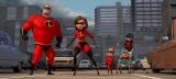 (左から)ボブ、ヘレン、ダッシュ、ジャック・ジャック(ベビーカーに乗っている赤ちゃん)、ヴァイオレット(C)2018 Disney/Pixar. All Rights Reserved.