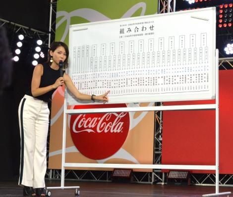 甲子園の組み合わせ=『熱闘甲子園』THELIVE 体感STAGE2018に登壇したヒロド歩美アナウンサー (C)ORICON NewS inc.