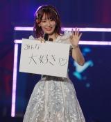 総選挙3位・宮脇咲良はスケッチブックでファンに感謝を伝えた (C)ORICON NewS inc.