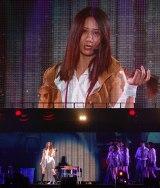 「誰かの耳」をソロで披露中、長い髪を自らバッサリ切り落とした古畑奈和=『AKB48グループ感謝祭〜ランクインコンサート』の模様 (C)ORICON NewS inc.