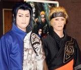 人生初コンタクトで写輪眼を披露した(左から)中村隼人、坂東巳之助=新作歌舞伎『NARUTO-ナルト-』囲み取材(C)ORICON NewS inc.