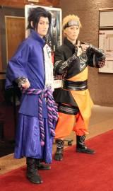 新作歌舞伎『NARUTO-ナルト-』囲み取材に出席した(左から)中村隼人、坂東巳之助 (C)ORICON NewS inc.