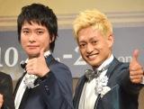舞台『ジャニーズ伝説2018』の製作発表に出席したA.B.C-Z(左から)戸塚祥太、塚田僚一 (C)ORICON NewS inc.