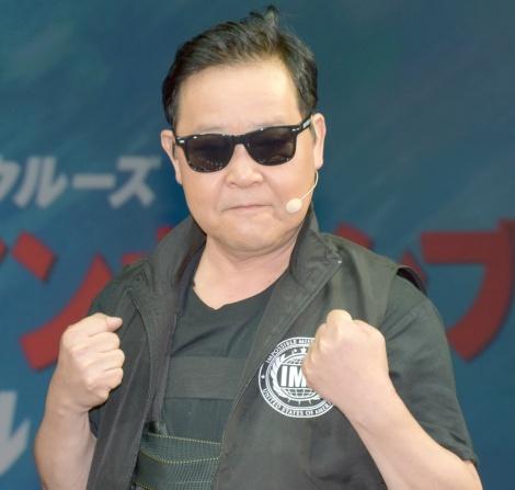 映画『ミッション:インポッシブル/フォールアウト』大ヒット御礼イベントに登場した上島竜兵 (C)ORICON NewS inc.