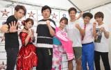 (左から)歌広場淳、矢口真里、平井善之、片岡沙耶、ケイン・コスギ、ちゅうえい、瀧上伸一郎 (C)ORICON NewS inc.