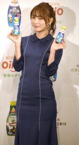 『スヌーピー×かけるオイルパフェパーティー2018』オープニングイベントに登場した内田理央(C)ORICON NewS inc.