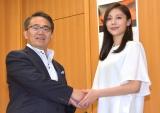 (左から)大村秀章愛知県知事、水沢エレナ (C)ORICON NewS inc.
