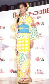 『「チョコラBB」ビタミンB2啓発・夏祭りPRイベント』に参加した新木優子 (C)ORICON NewS inc.