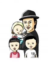 『パパは漫才師』の登場キャラクターたち(C)小学館