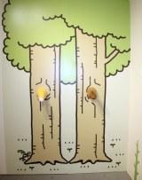 写真撮影ができるフォトスポット=『タヌキとキツネ』の企画展『タヌキとキツネ展 〜タヌキ山にようこそ!〜』 (C)ORICON NewS inc.