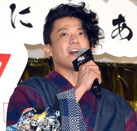 映画『銀魂2 掟は破るためにこそある』(17日公開)の完成披露舞台あいさつに出席した小栗旬(C)ORICON NewS inc.