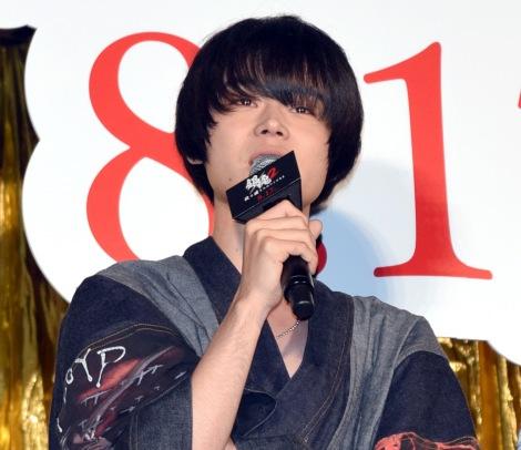 映画『銀魂2 掟は破るためにこそある』(17日公開)の完成披露舞台あいさつに出席した菅田将暉 (C)ORICON NewS inc.