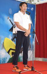複合スポーツエンターテインメント施設『スポル』のプレオープンイベントに参加した鈴木大地長官 (C)ORICON NewS inc.