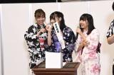 「未年姉妹」もノーシード(左から)須田亜香里、浅井裕華、相川暖花(C)AKS