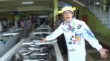 モルディブ・ロケリポーターのさかなクン(C)日本テレビ