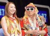 『サマージャンボ宝くじ』の抽選会に出席したTRFの(左から)CHIHARU、DJ-KOO (C)ORICON NewS inc.