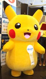 『「TSUTAYAプレミアム」&「劇場版ポケットモンスター みんなの物語」』PRイベントに出席したピカチュウ (C)ORICON NewS inc.