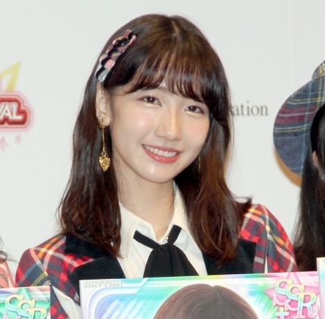 自虐で会場を沸かせたAKB48・柏木由紀=音楽ゲームアプリ『AKB48ビートカーニバル』記者発表会 (C)ORICON NewS inc.