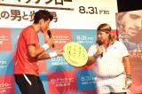 イベントではお笑い芸人・バモス渡辺にアドバイスする一幕も (C)ORICON NewS inc.