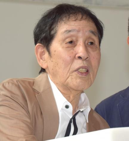 土屋敏男氏にするどい質問をした萩本欽一=「1964 SHIBUYA VR」プロジェクトの『タイムマシン体験会〜2018年・夏』(C)ORICON NewS inc.